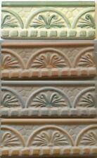 Listelli Orvieto 8x20 verde-rosa-beige-azzurro rivestimento bagno decoro ceramic