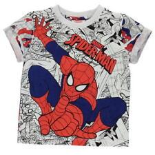 Garçons enfants officiel marvel spiderman bande dessinée à manches courtes t shirt top
