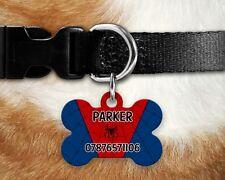 Custom PERSONALIZZATA per Cane Tag ID Nome PER COLLARE Pet Tags-SPIDER-MAN DOG TAG