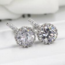 18K Rose Gold Filled / 925 Silve Fashion Jewelry claws Crystal eardrop Earring E