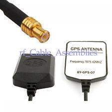 10 PCS Mini GPS Active Magnetic base Antenna MCX male plug connector 5M cable