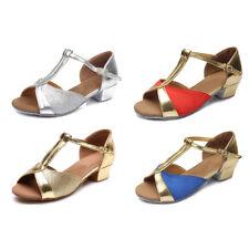 Children Women's Latin Dance Shoes Heeled Girls Ballroom Party Tango shoes