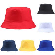 70d3bdf4 Women Men Adults Cotton Bucket Hat Summer Fishing Fisher Beach Sun Cap  Solid WG