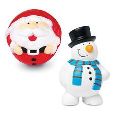 10 x Anti Stress Christmas Reliever Stressball ADHD Autism Mood Snowman Santa
