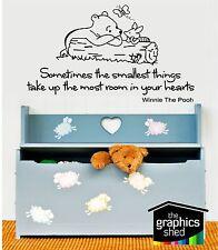 winnie the pooh wall sticker art cute kids nursery piglet fun baby infant quote1