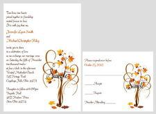 150 Personalized Custom Fall Autumn Tree Bridal Wedding Invitations Set