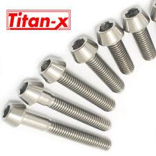 TITANIO M6 15,20,25,30,35,40,45,50,60,70mm Tornillo de cabeza cónica Tapa De Enchufe