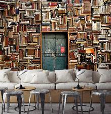3D Bücherregal 5 Fototapeten Wandbild Fototapete Bild Tapete Familie Kinder