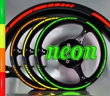 ░▒▓█ FELGENRANDAUFKLEBER Moto GP 16 Zoll NEON █▓▒░ Felgenaufkleber Motorrad Auto