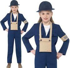 Bambini Ragazze Horrible Histories TEMPO DI GUERRA AIR Warden costume smiffys