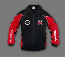 Man's Nissan GTR Fleece Jacket Sport Embroidered Polar, Fan Merchandise, Black