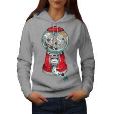 Wellcoda Cat Lover Mashine Fashion Womens Hoodie,  Casual Hooded Sweatshirt