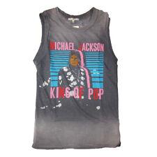 Michael Jackson King of Pop Ladies Tank Top by Junk Food
