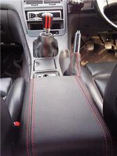Se adapta a Nissan 300zx Fairlady Z32 90-00 Cuero gear/handbrake Rojo Doble Costura