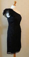 Kaliko Black One Shoulder Overlay Lace Cocktail Dress BN Size 10