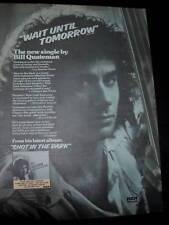 Bill Quateman 1978 Promo Poster Ad Wait Until Tomorrow