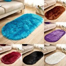 Soft Rug Chair Cover Artificial Sheepskin Wool Warm Hairy Carpet Seat Mats Rug