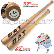 "Wood Baseball Bat 25""/63cm-32""/81cm Self - Defense Family Safety Exercise Sports"