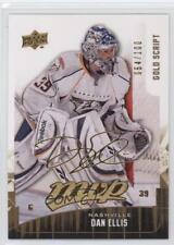 2009-10 Upper Deck MVP Gold Script 138 Dan Ellis Nashville Predators Hockey Card