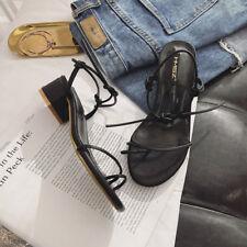 sandali 1 cm eleganti nero tacco quadrato basso sandali simil pelle 1169