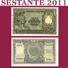 ITALIA, ITALY 50 LIRE ITALIA ELMATA FIRMA DI CRISTINA 1951, P 91b  SPL++ / FDS