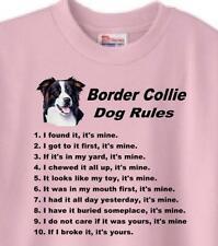 Dog T-Shirt - Border Collie Dog Rules -Men Women Adopt Family Animal Rescue # 7