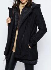 NIKE Uptown 3 In 1 Black Short Parka Jacket Coat NEW Womens Sz XS