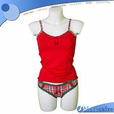 Coordinato donna Natale capodanno cotone elasticizzato completo rosso  DSCOO002