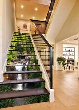 3D Woods, streams 1 Stair Risers Decoration Photo Mural Vinyl Decal Wallpaper AU
