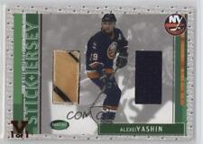 2002-03 In the Game Parkhurst Stick & Jersey ITG Vault Ruby #SJ-48 Alexei Yakhin