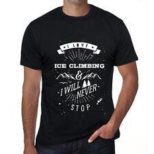 ICE CLIMBING Extreme sport Tshirt, Homme Tshirt Noir Cadeau Tshirt