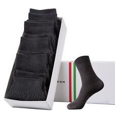 5Pairs Men Bamboo Fiber Socks Casual Anti-Bacterial Deodorant Breathable Socks