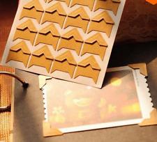 120pcs(5 sheets) Retro Photo Corner kraft Paper Sticker Photo Album Decor HOT CA