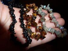 LOT 3 Bracelets OEIL DE TIGRE-LABRADORITE-TOURMALINE