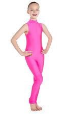 Lycra Catsuit Sleeveless Polo Keyhole - Flo Colours (#LISA)