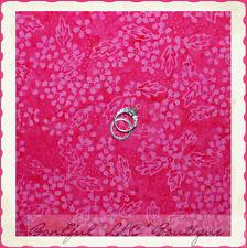 BonEful Fabric FQ Cotton Quilt Batik Retro Hot Fuschia Pink Dot Flower Leaf Art