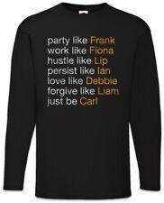 Act Like Gallagher Men Long Sleeve T-Shirt Lip Frank Gallagher Shameless Fun