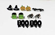Halloween Earrings, Gothic Studs,Bats,Pumpkins,Boo,Skulls,Hats,Frankenstein