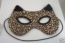 Cat Leopard glitter eye mask mardigras costume halloween trick or treat