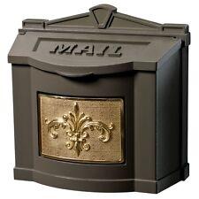 Gaines Metal Wall Mount Mailbox - Fleur de Lis Mail Box - Lys - 9 color choices