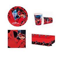 Coordinato Tavola Piatti Bicchieri Tovaglioli Tovaglia Party Ladybug Miraculous