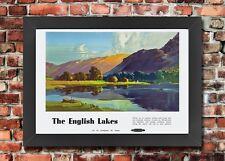 TU22 Vintage English Lakes Lake District Travel Framed Railway Poster A3/A4