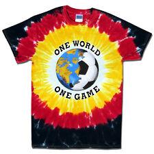 Soccer Germany World Cup One World Soccer T-Shirt Jersey Tie Dye Short Sleeve