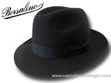 Borsalino Cappello Marengo Fedora ala 6,5 cm Grigio scuro