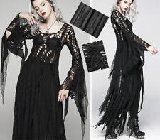 Robe pull longue dentelle gothique punk lolita destroy sorcière soirée PunkRave