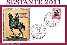 ITALIA FDC FILAGRANO BARTOLOMEO COLLEONI  VERROCCHIO 1973 ANNULLO MATERA,  A162