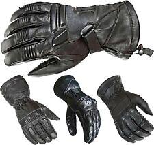 Mens Thermal Motorbike Motorcycle Biker Leather Gloves Waterproof Protection