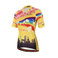 Womens Cycling Clothing Short Sleeve Road Bike Shirts Team Bicycle Jersey S-5XL