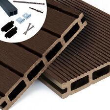 WPC Terrassendielen Komplettbausatz Braun Komplettset Mocca Holz Diele 2,90m Neu