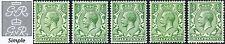 1912-24 KGV Royal Cypher ½d Concise Shades SG 351, 352, 353, 354, 356